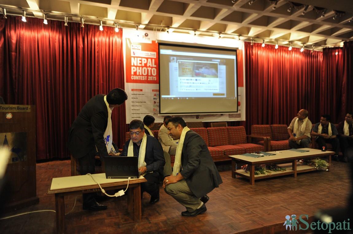 नेपालकै सबैभन्दा धेरै पुरस्कारराशी भएको फोटो प्रतियोगिताको घोषणा गरिँदै। तस्बिरः नारायण महर्जन