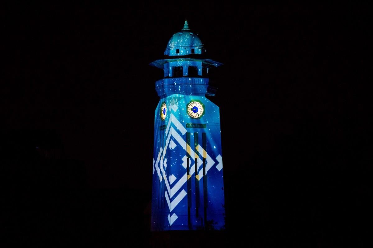 क्याण्डिड घण्टाघर। तस्बिरः सिमोन पौडेल