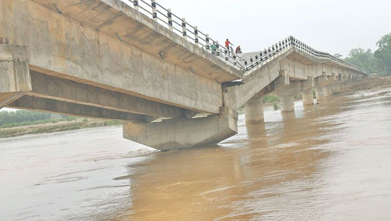 पप्पु कन्स्ट्रक्सनले बनाएको पुल। फाइल।