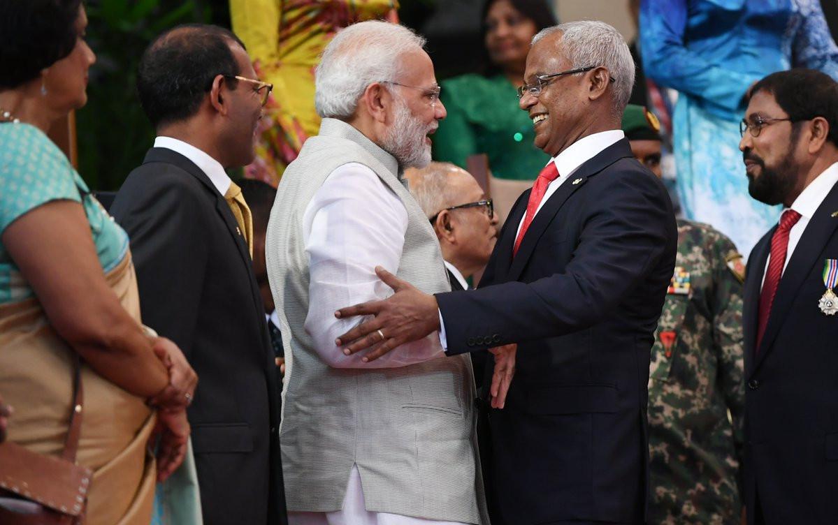 राष्ट्रपति सोलिहको सपथ समारोहमा भारतीय प्रधानमन्त्री नरेन्द्र मोदी। फाइल तस्बिर।