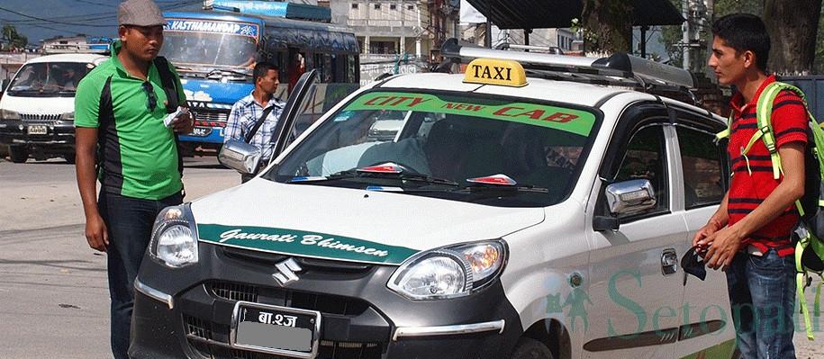 यातायात व्यवस्था कार्यालयले भन्यो : ट्याक्सीको मापदण्ड मान्दैनौं