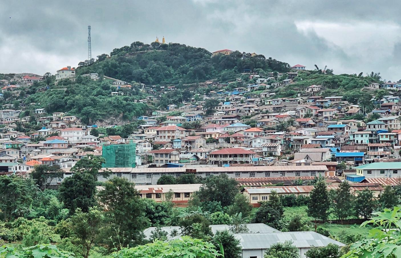 म्यानमारमा नेपालीभाषीको बाक्लो बस्ती रहेको 'शान' प्रदेश। तस्बिर: दीपक भट्टराई