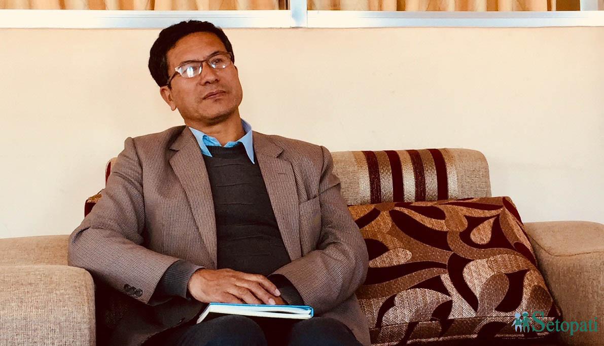 भक्तपुर नगरपालिकाका मेयर सुनिल प्रजापति। तस्बिरः सेतोपाटी