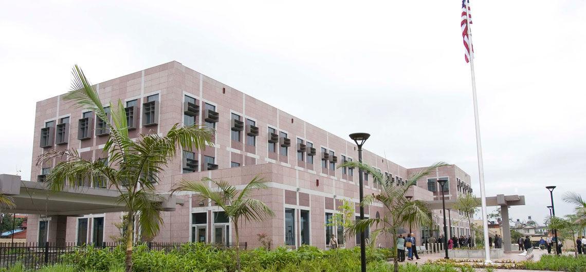 चक्रपथस्थित अमेरिकी दूतावास। फाइल तस्बिर।