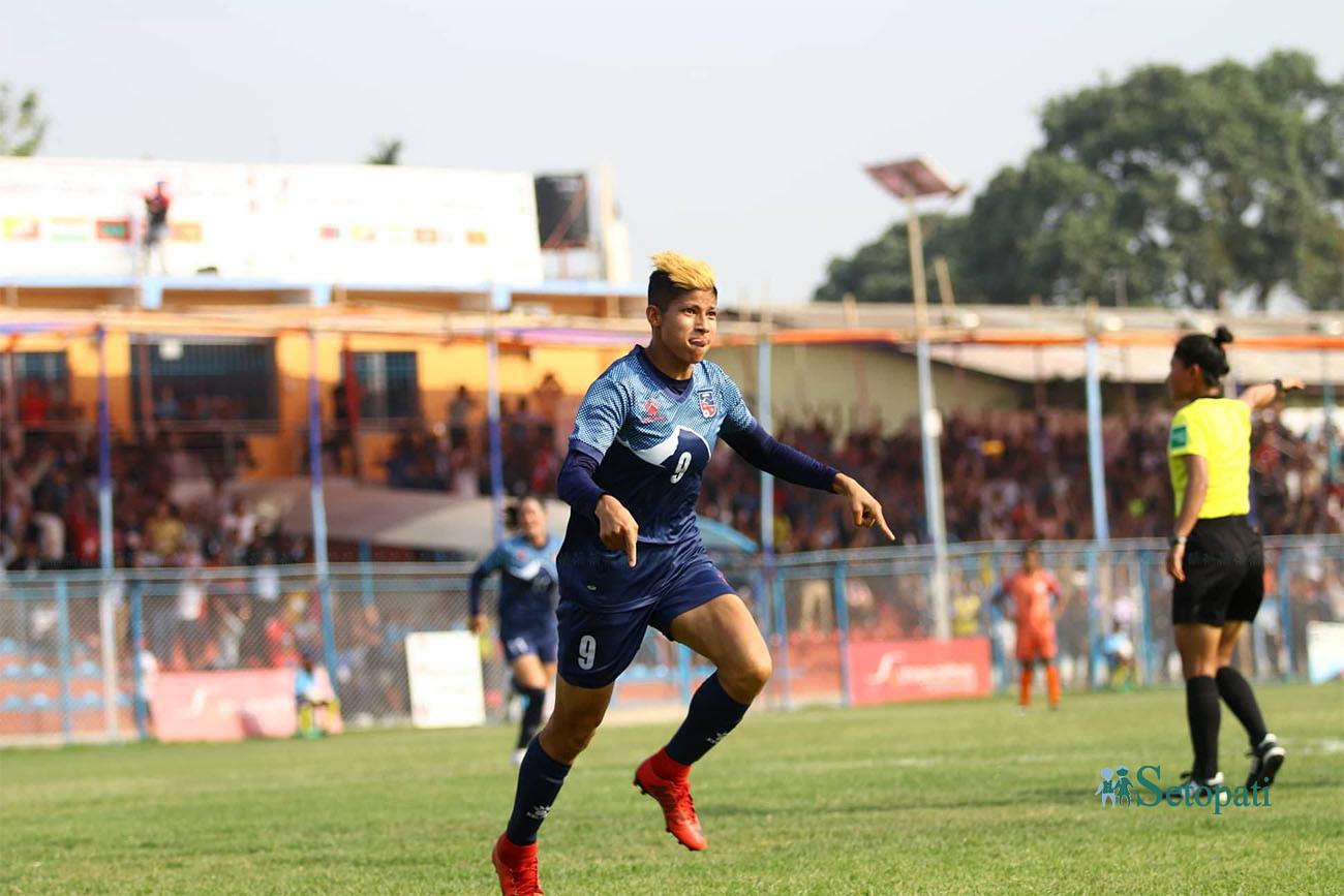 मध्यान्तरसम्म नेपाल र भारत १-१ को बराबरीमा