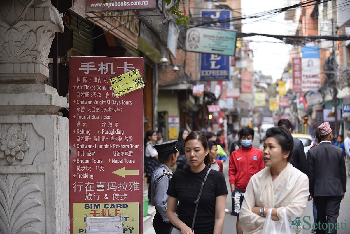चिनियाँ पर्यटक बढे ४७ प्रतिशत, उनीहरूले गरेको खर्च भने गयो चीनतिरै