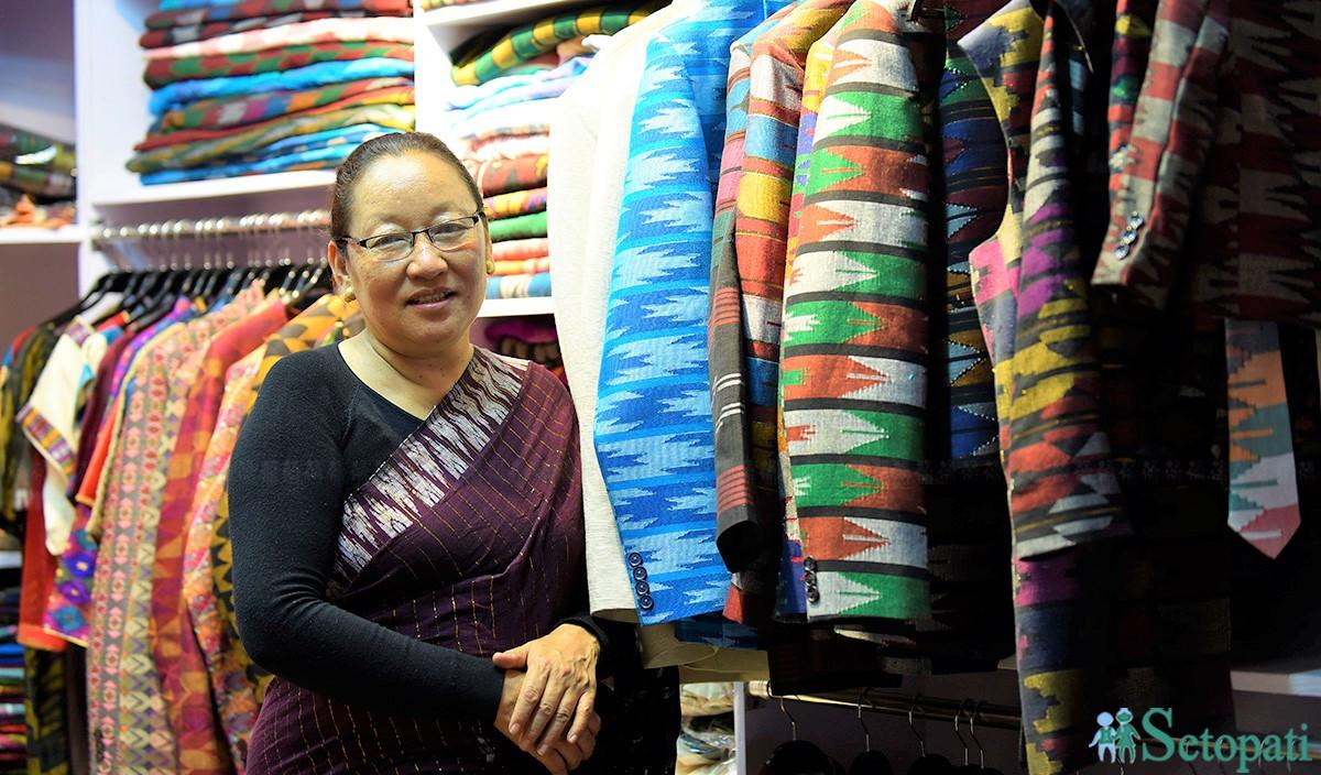 राष्ट्रपतिको साडी डिजाइन गर्ने कल्पना संसारभर लोकप्रिय बनाउँदै नेपाली ढाका