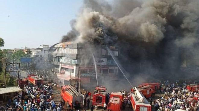 ट्युसन सेन्टरमा आगलागी हुँदा भारतमा २० विद्यार्थीको मृत्यु