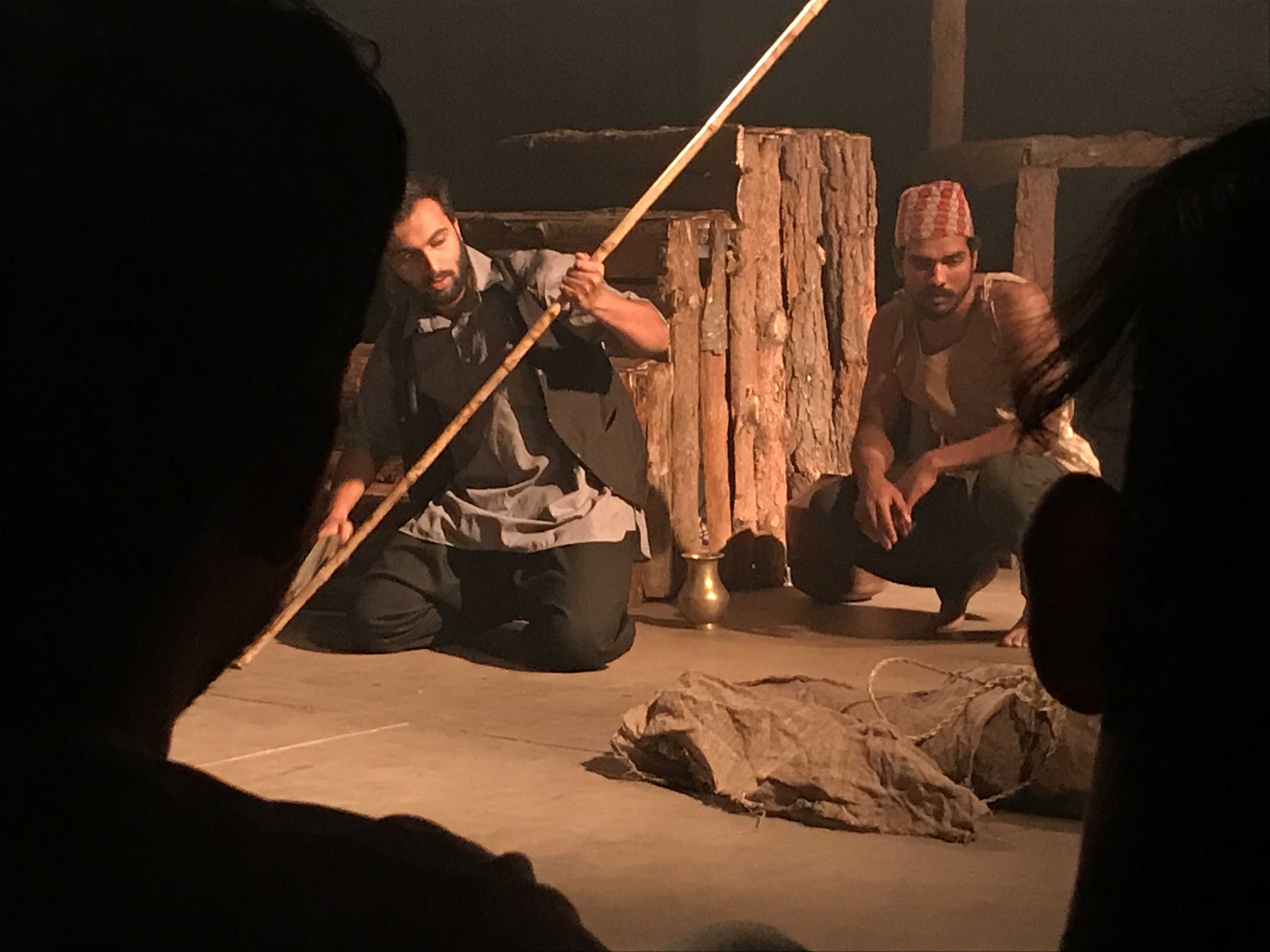 नाटक क्लेशाःको एक दृश्य। तस्बिरः अनुषा अधिकारी/सेतोपाटी