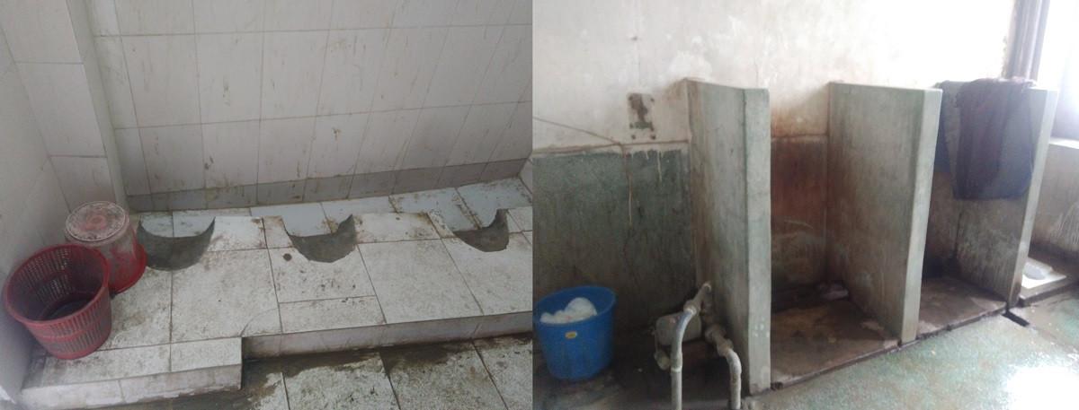 'चौकीदार' लिएर जानुपर्ने सरकारी कलेजका शौचालय