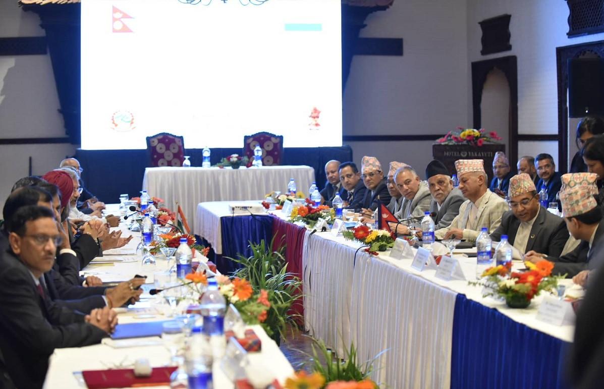 नेपाल भारत संयुक्त आयोगको काठमाडौंमा सुरु बैठक। तस्वीरः नारायण महर्जन/सेतोपाटी
