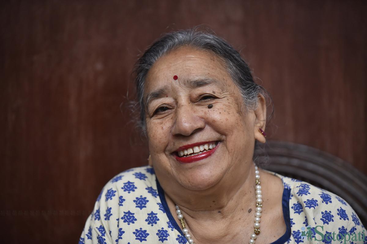 ८३ वर्षीया मिठाइदेवी विश्वकर्मा। तस्बिरः नारायण महर्जन/सेतोपाटी