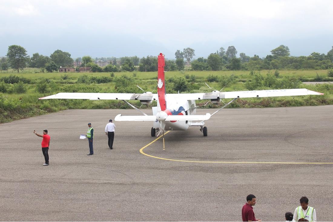 दाङको एक मात्र टरिगाउँ विमानस्थल।