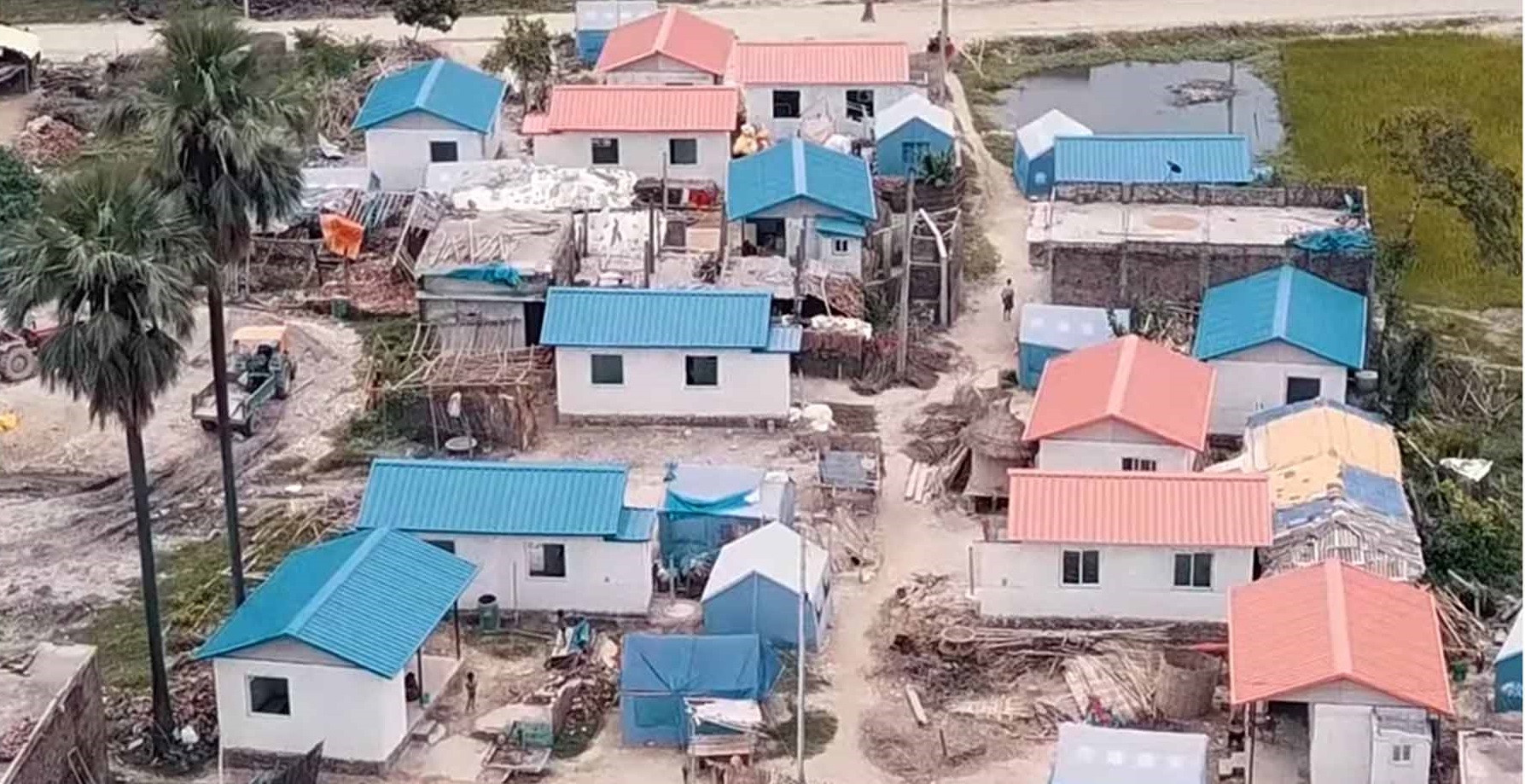 नेपाली सेनाले बनाएका घरहरू। तस्बिर: जंगी अड्डा