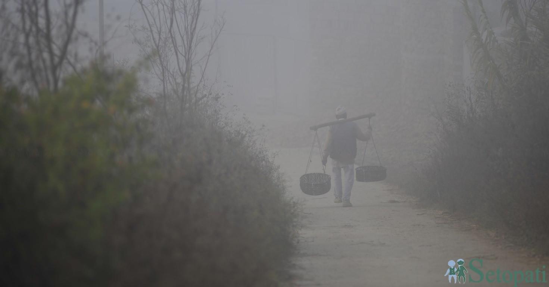 विस्तारै चिसो हुन थालेको काठमाडौंको यो मौसममा दसैंको बासना छ। सबै तस्बिर: नारायण महर्जन/सेतोपाटी