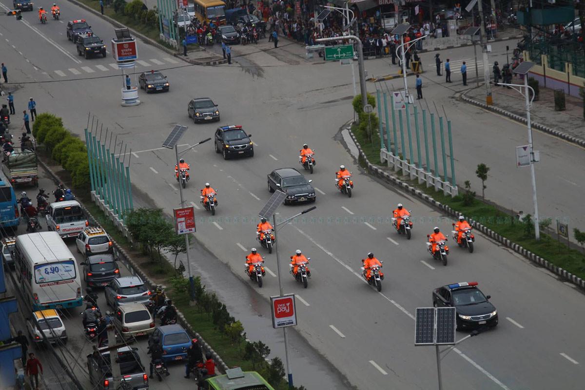 फाइल तस्बिरः राष्ट्रपतिको सवारी
