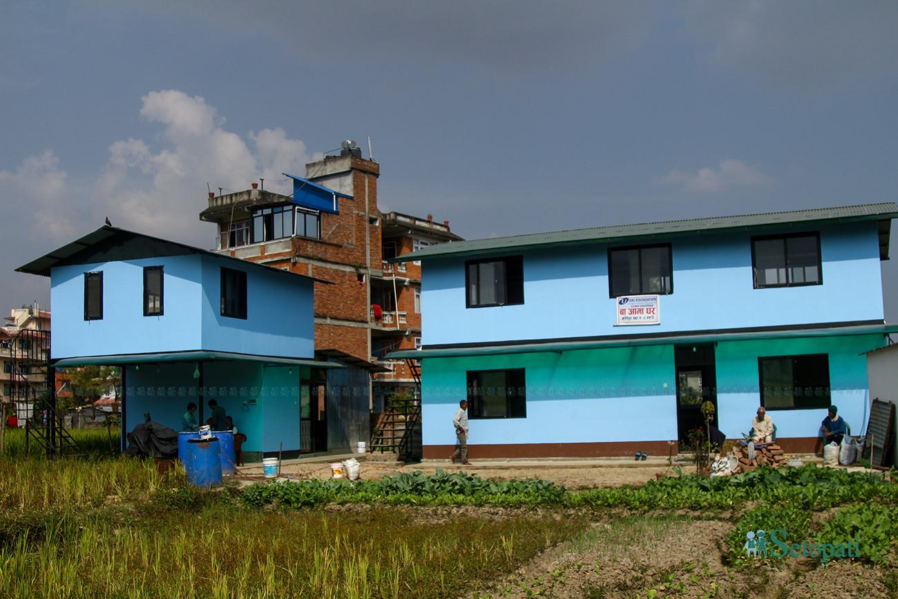 कीर्तिपुर, नगाउँस्थित बाआमा घर। तस्बिरः निशा भण्डारी/सेतोपाटी