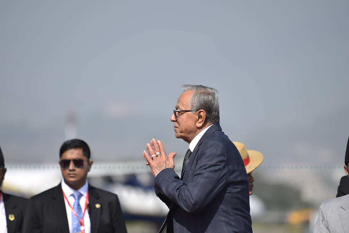 बंगलादेशी राष्ट्रपतिको चन्द्रागिरी भ्रमण रद्द