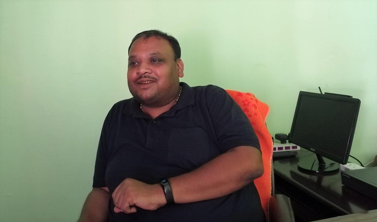 हनुमाननगर कंकालिनी नगरपालिका मेयर शैलेश साह। तस्बिरः सेतोपाटी