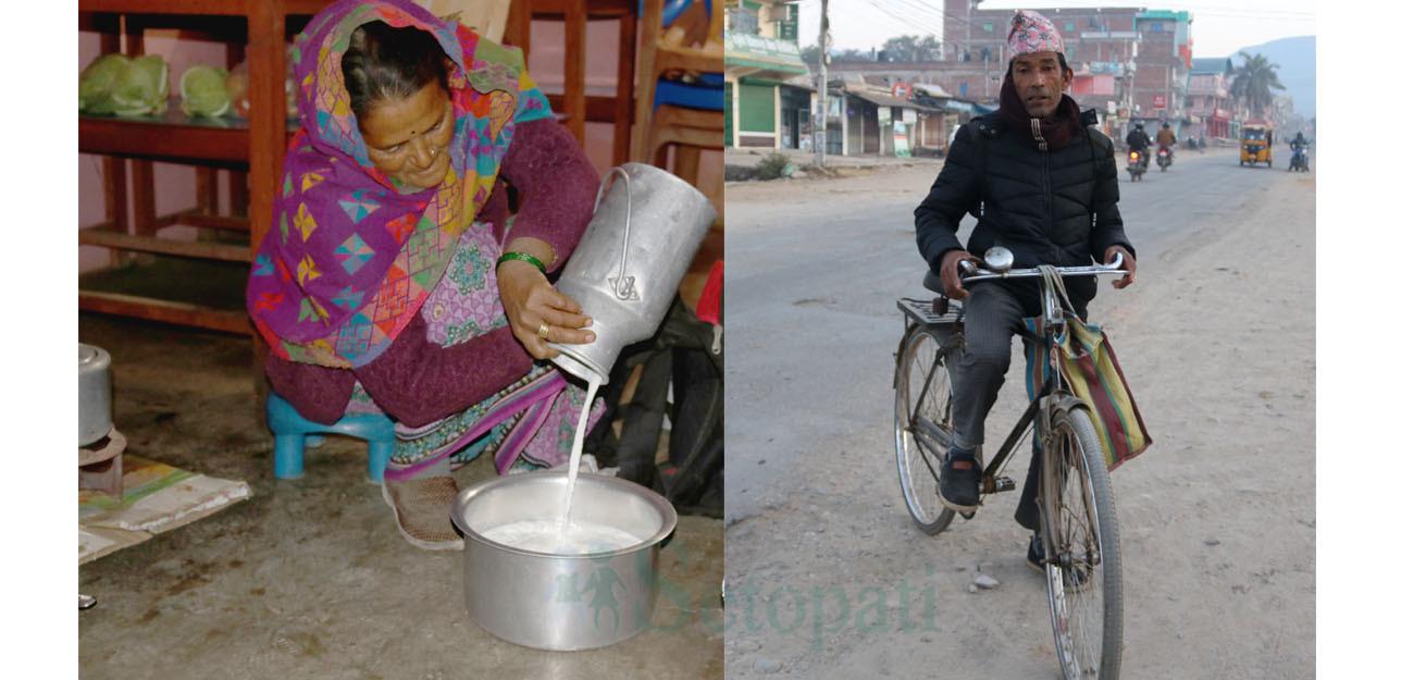दूध बेचेको पैसाले नातिनीलाई नर्स, छोरालाई गाडी