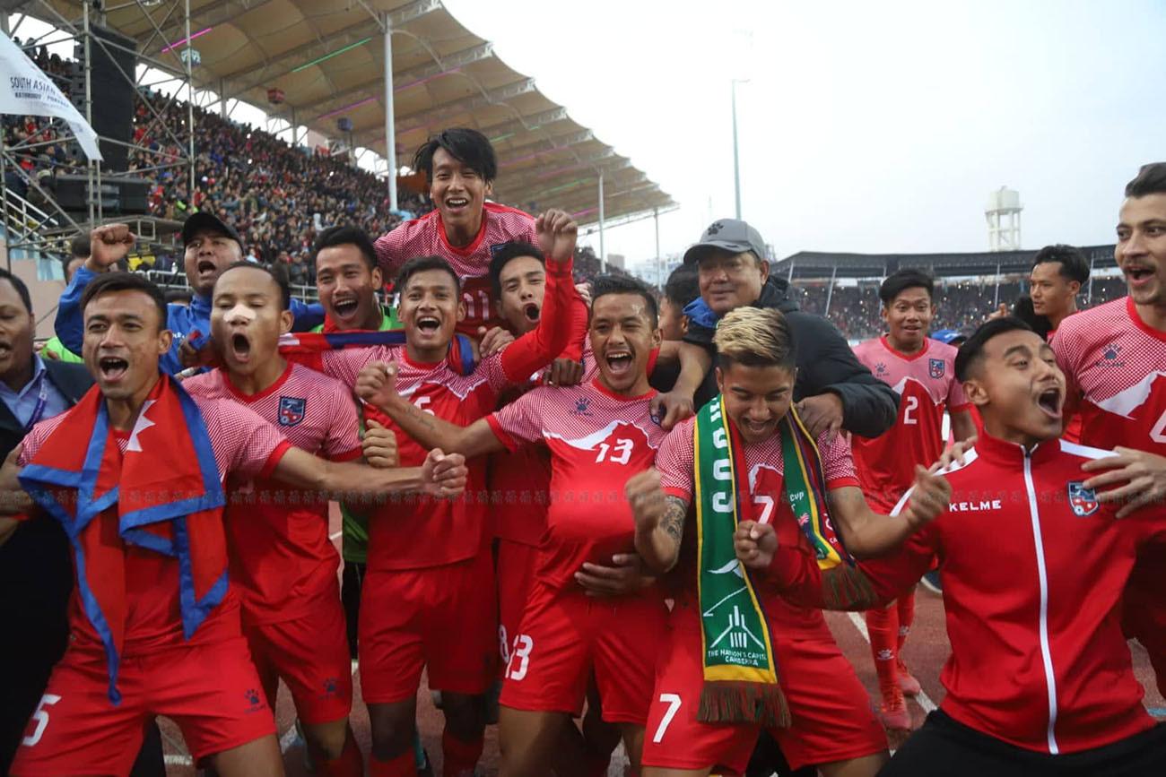 साग फुटबलमा नेपाल फेरि च्याम्पियन