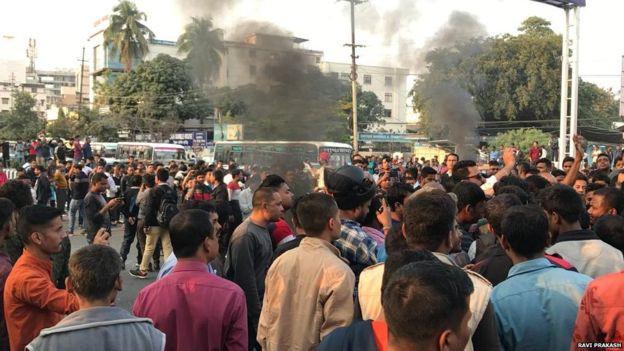 नागरिकता संशोधन ऐनका विरुद्ध भारतमा भएको विरोध प्रदर्शनको फाइल तस्वीर।