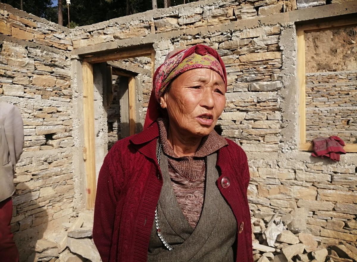 ६७ वर्षीया डोल्मा ह्योल्मो। तस्बिरः समीक्षा अधिकारी/सेतोपाटी