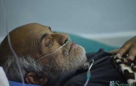 डा. गोविन्द केसी १५ अौं अनसनको २४ औं दिनमा। तस्बिर: नारायण महर्जन/सेतोपाटी