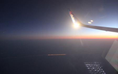 ४० हजार फिट माथिको उडानमा। तस्बिरः सुरज सुवेदी