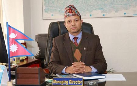 नेपाल टेलिकमका प्रबन्ध निर्देशक डिल्लीराम अधिकारी।