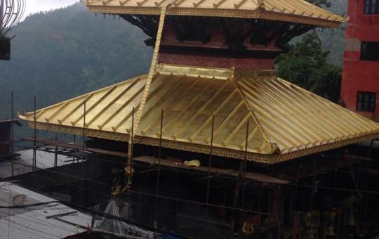 पुनर्निमार्ण सकिएको मनकामना मन्दिर। फोटो सौजन्य: नरेन्द्रबाबु श्रेष्ठ