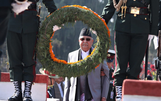 प्रधानमन्त्री केपी शर्मा ओली।  सेतोपाटी फाइल।