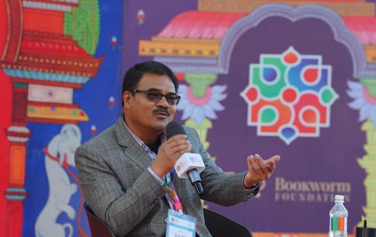 पोखरामा जारी नेपाल साहित्य महोत्सवमा आहुती।